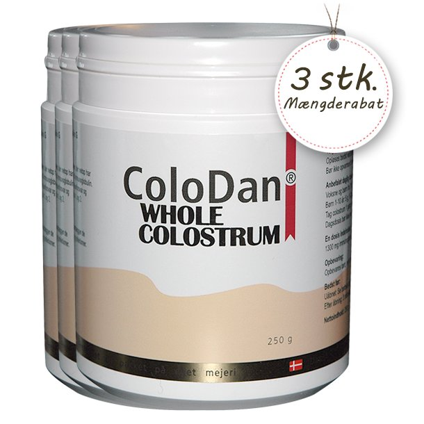 ColoDan<sup>®</sup> Whole Colostrum<br />Sampak 3 x 250 g
