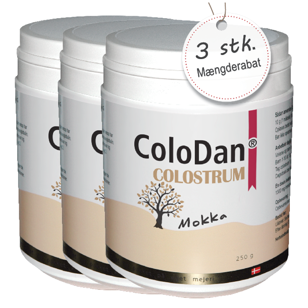 ColoDan<sup>®</sup> Colostrum Mokka<br /> Sampak 3 x 250 g