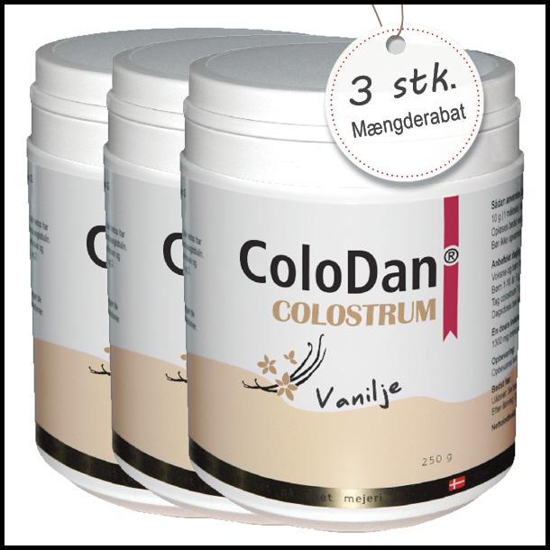 ColoDan<sup>®</sup> Colostrum Vanilje<br /> Sampak 3 x 250 g