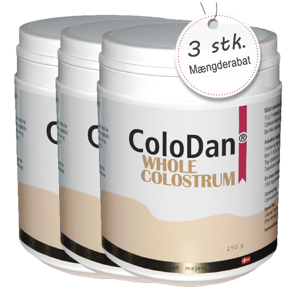 ColoDan<sup>®</sup> Whole Colostrum<br /> Sampak 3 x 250 g