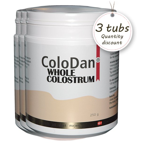 ColoDan Whole Colostrum<br />Multi pack 3 x 250 g