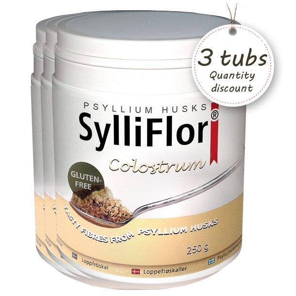 SylliFlor Psyllium Husks<br />Colostrum<br />Multi pack 3 x 250 g