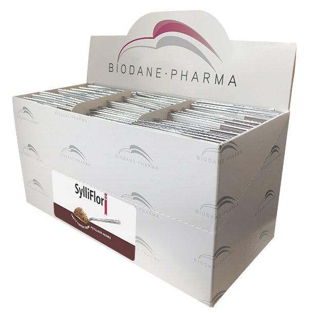 SylliFlor<sup>®</sup> Flohsamenschalen<br />Kakao<br />Dosisbreife 30 x 6 g