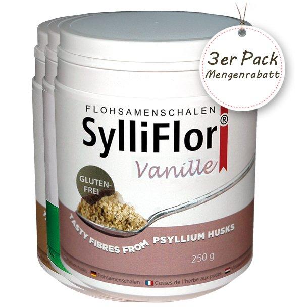 SylliFlor<sup>®</sup> Flohsamenschalen<br />Kombi<br />3 x 250 g