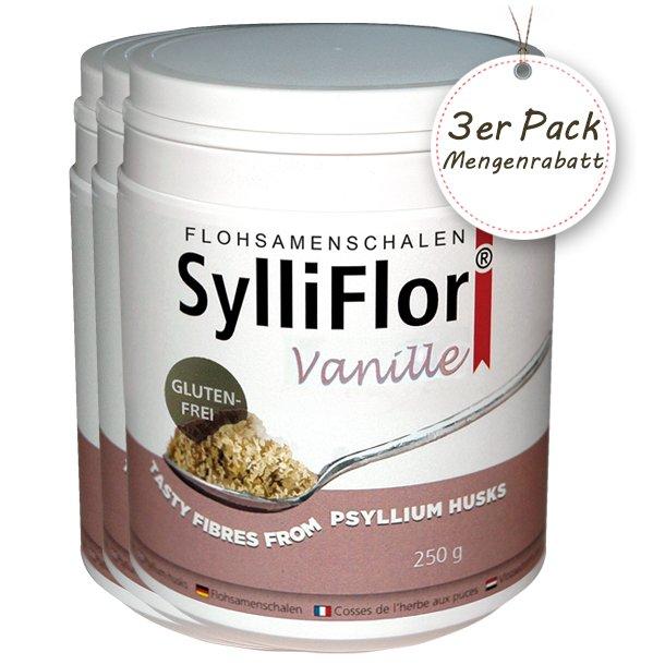 SylliFlor Flohsamenschalen<br />Vanille<br />3 x 250 g